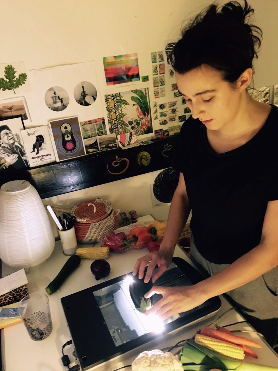 me scanning veg